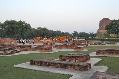 Ancient Buddhist monasteries in Sarnath