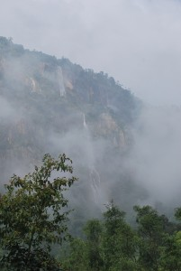 Waterfalls from toy train