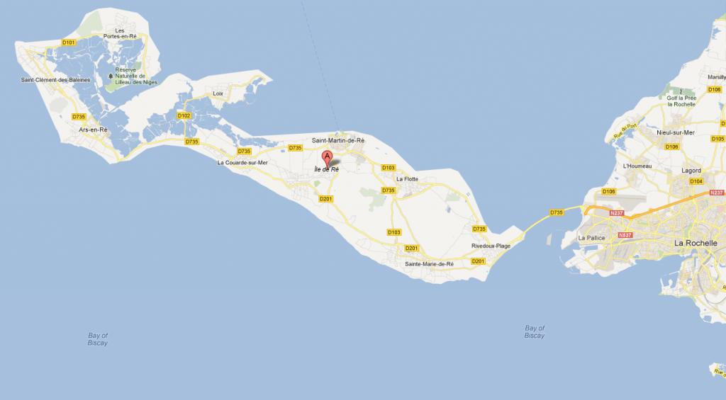Ile de Ré google maps