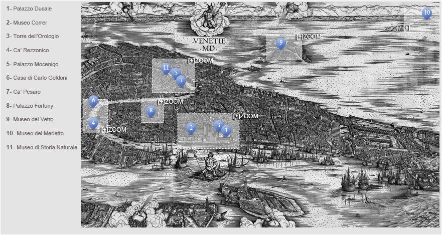 Mappa Musei Civici di Venezia