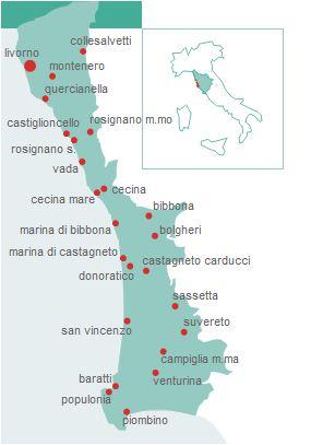 Mappa Costa degli Etruschi