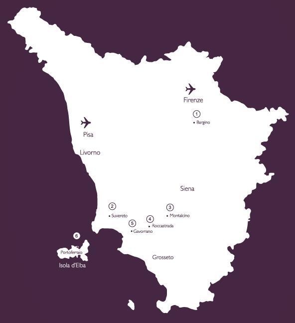 mappa melodia del vino