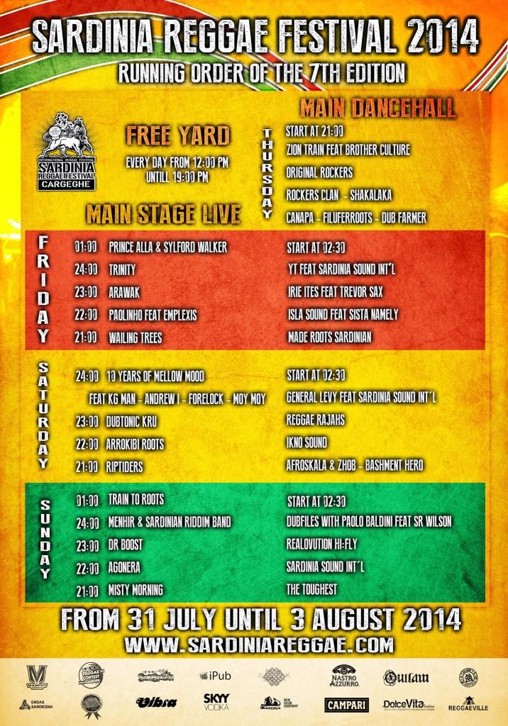 Sardinia Reggae Festival Line-Up 2014