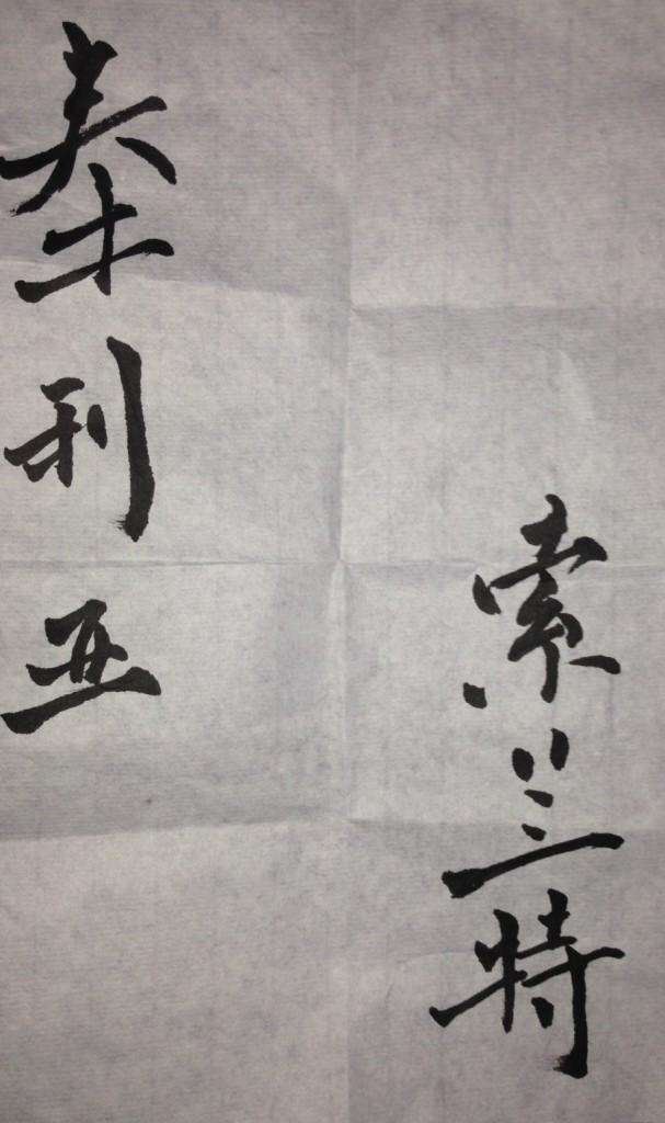"""Kinzica Sorrenti"" in cinese"