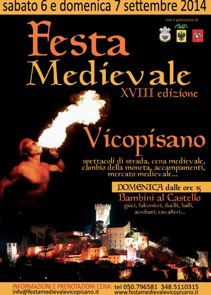 Manifesto Festa Medievale Vicopisano