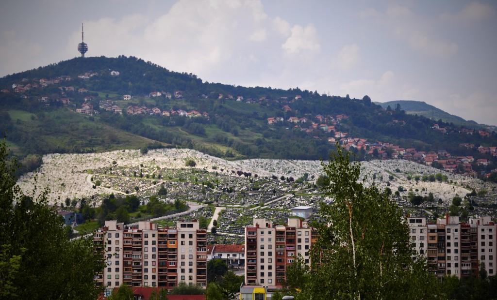 I cimiteri a perdita d'occhio di Sarajevo