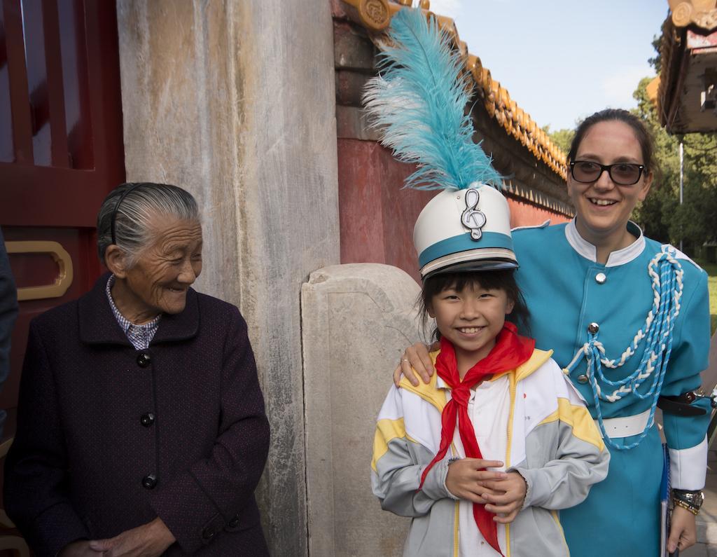 Al Festival Internazionale di Beijing, presso il Tempio della Terra.