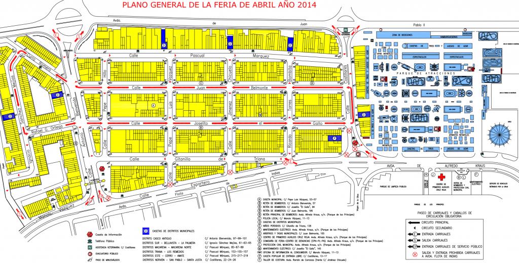 Mappa Feria di Siviglia