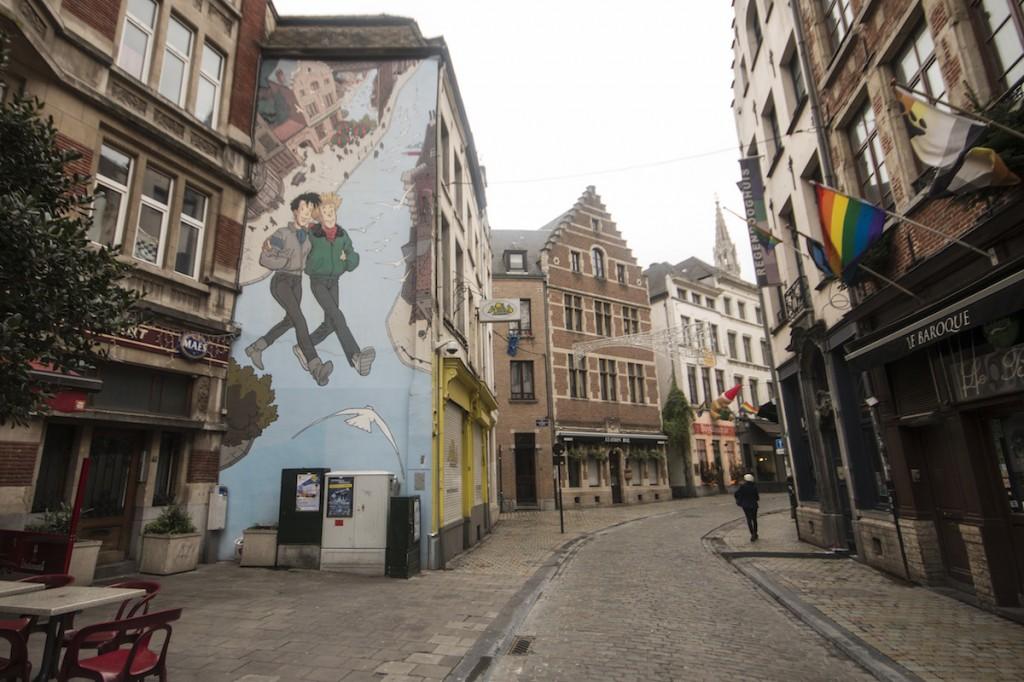 Murales Broussaille di Franck Pé, rue du Marché-au-Charbon 39