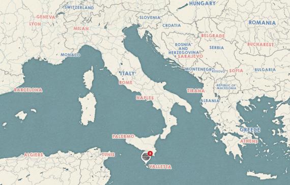 Dove si trova Malta, sotto la sicilia