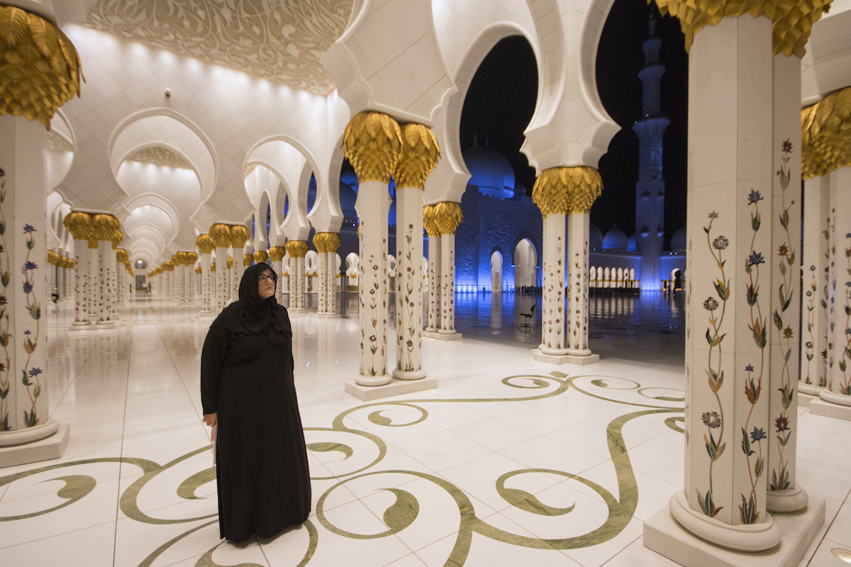 Donna dress code Grande moschea Sheikh Zayed