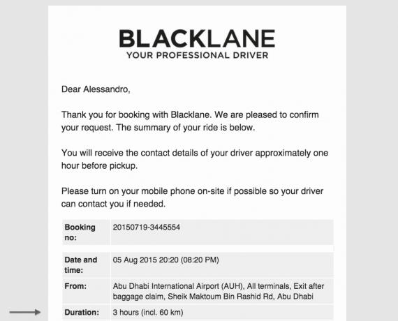 Prenotazione auto ad ore Blacklane